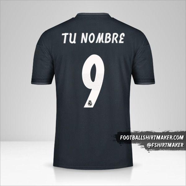 Jersey Real Madrid CF 2018/19 Cup II número 9 tu nombre