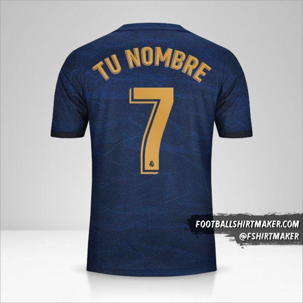 Jersey Real Madrid CF 2019/20 II número 7 tu nombre