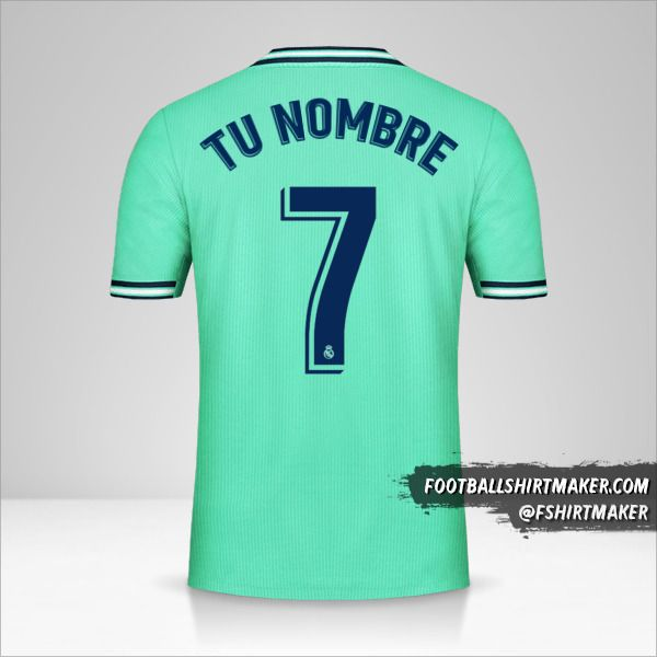Jersey Real Madrid CF 2019/20 III número 7 tu nombre