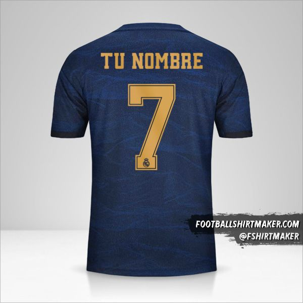 Jersey Real Madrid CF 2019/20 Cup II  número 7 tu nombre