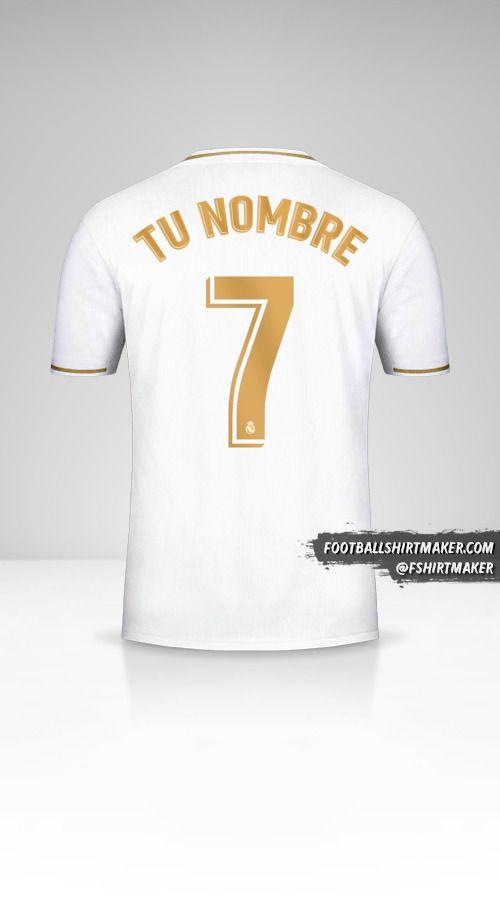Jersey Real Madrid CF 2019/20 número 7 tu nombre