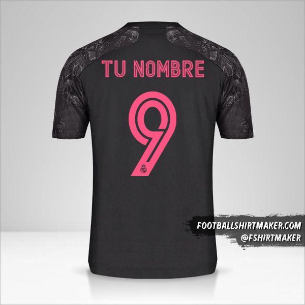 Jersey Real Madrid CF 2020/21 Cup III número 9 tu nombre
