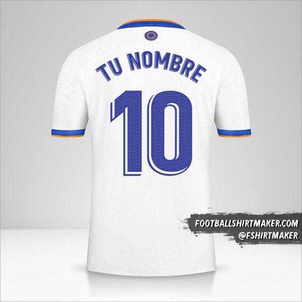 Jersey Real Madrid CF 2021/2022 número 10 tu nombre
