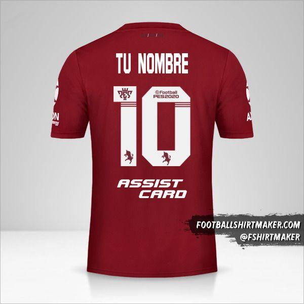 Jersey River Plate 2019/20 II número 10 tu nombre