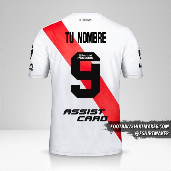 Jersey River Plate 2019/20 número 9 tu nombre