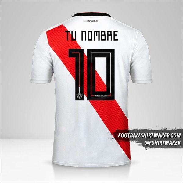 Jersey River Plate 2019 Copas número 10 tu nombre