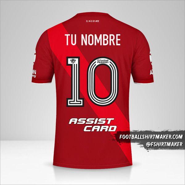 Jersey River Plate 2020/21 II número 10 tu nombre