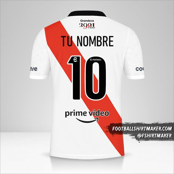 Jersey River Plate 2021/2022 número 10 tu nombre