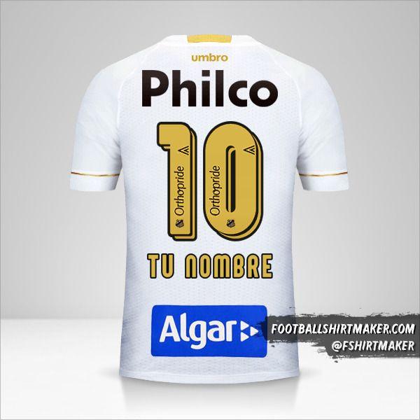 Jersey Santos FC 2018 número 10 tu nombre