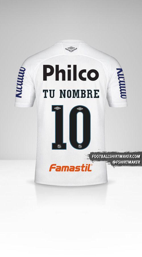 Jersey Santos FC Libertadores 2020 número 10 tu nombre