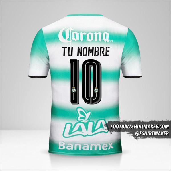 Jersey Santos Laguna 2016/17 número 10 tu nombre