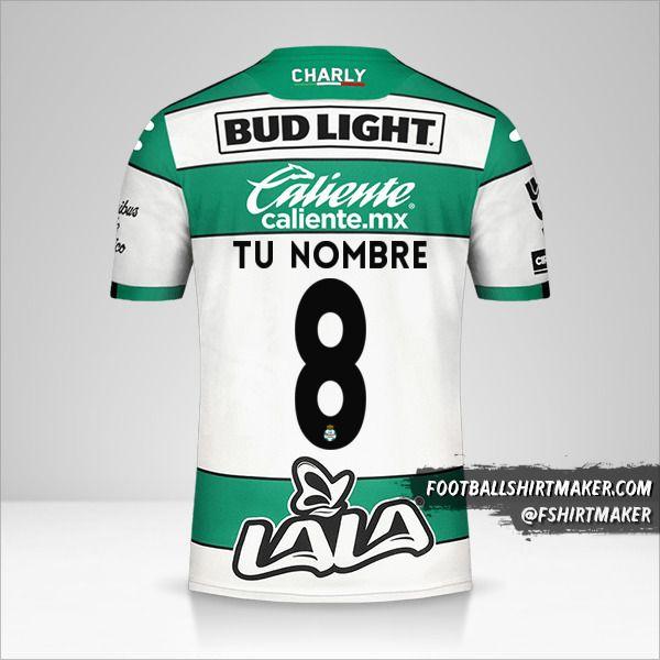Jersey Santos Laguna 2019/20 número 8 tu nombre