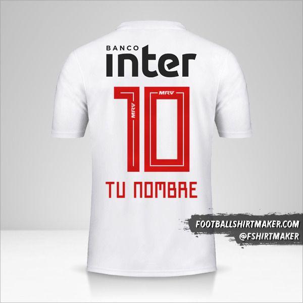 Jersey Sao Paulo FC 2019/20 número 10 tu nombre