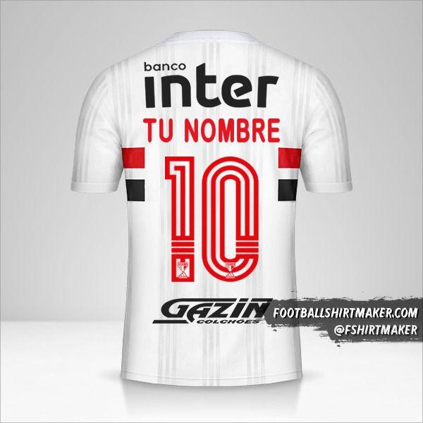 Jersey Sao Paulo FC Libertadores 2020 número 10 tu nombre