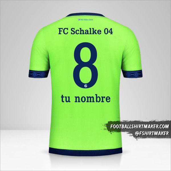 Jersey Schalke 04 2018/19 III número 8 tu nombre