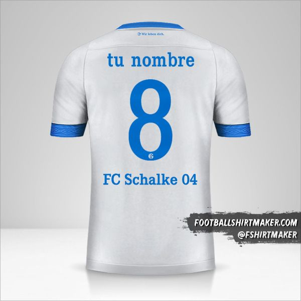 Jersey Schalke 04 2018/19 Cup II número 8 tu nombre