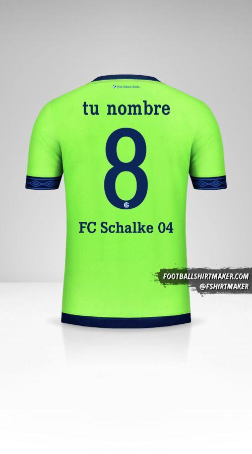 Jersey Schalke 04 2018/19 Cup III número 8 tu nombre