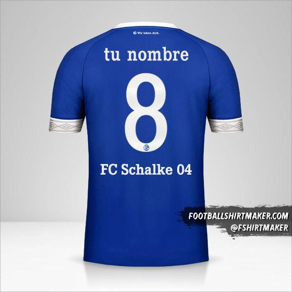 Jersey Schalke 04 2018/19 Cup número 8 tu nombre