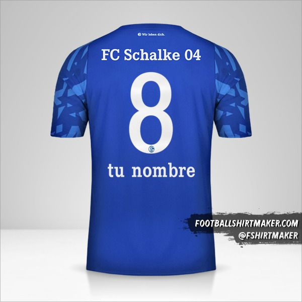 Jersey Schalke 04 2019/20 número 8 tu nombre