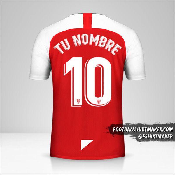 Jersey Sevilla FC 2019/20 II número 10 tu nombre