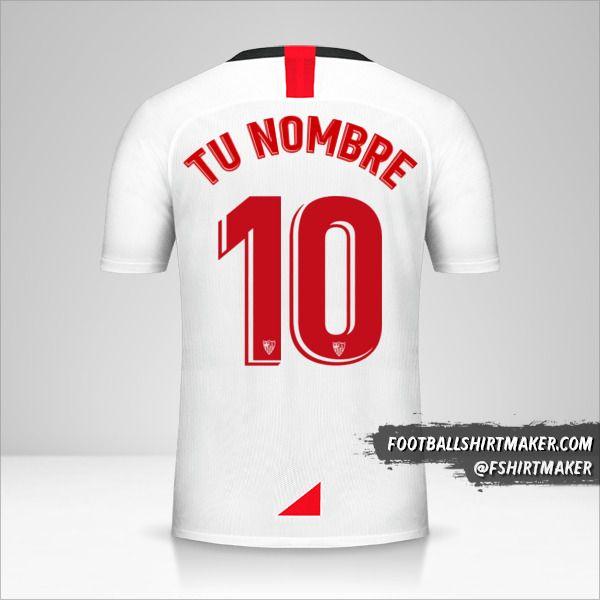 Jersey Sevilla FC 2019/20 número 10 tu nombre