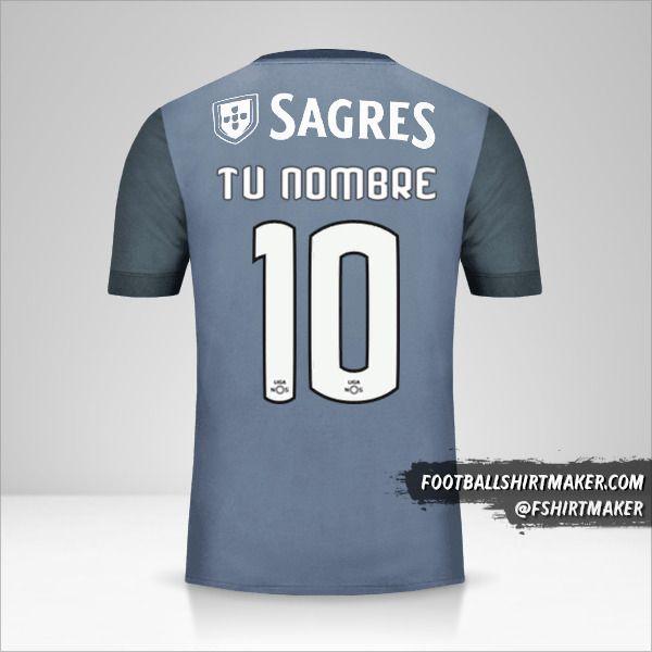Jersey SL Benfica 2017/18 II número 10 tu nombre