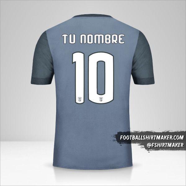 Jersey SL Benfica 2017/18 Cup II número 10 tu nombre
