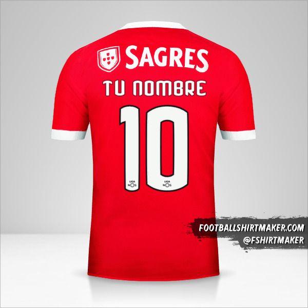 Jersey SL Benfica 2017/18 número 10 tu nombre