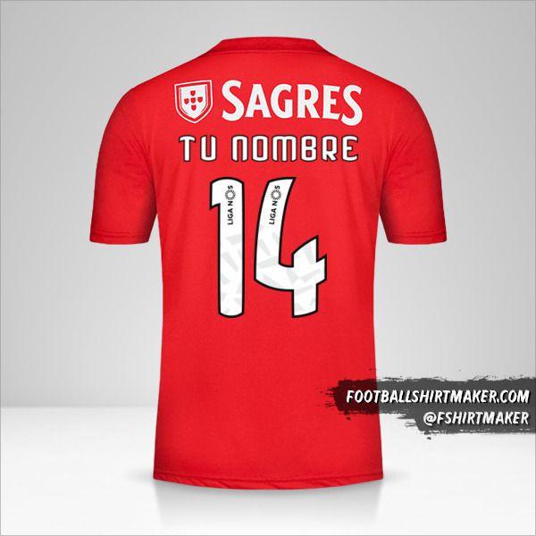 Jersey SL Benfica 2018/19 número 14 tu nombre