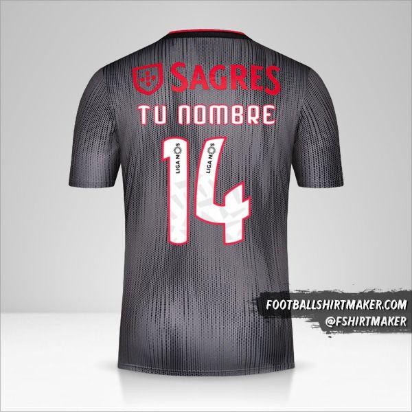 Jersey SL Benfica 2019/20 II número 14 tu nombre