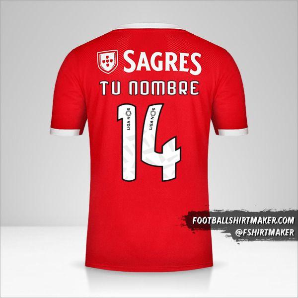 Jersey SL Benfica 2019/20 número 14 tu nombre