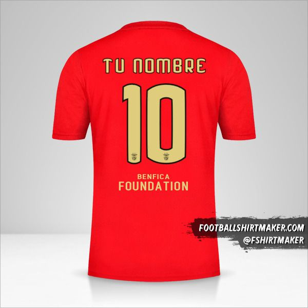 Jersey SL Benfica 2020/21 Cup número 10 tu nombre