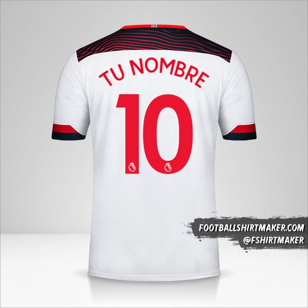 Jersey Southampton FC 2019/20 III número 10 tu nombre