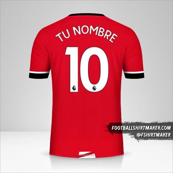 Jersey Southampton FC 2020/21 número 10 tu nombre