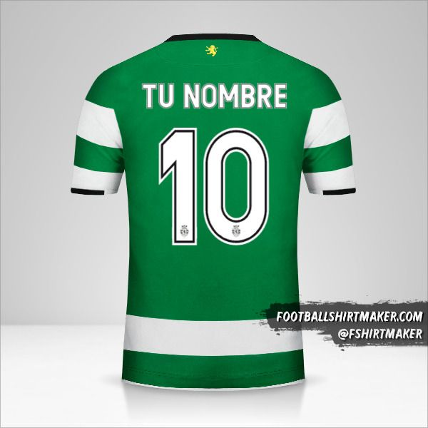 Jersey Sporting Clube 2017/18 Cup número 10 tu nombre