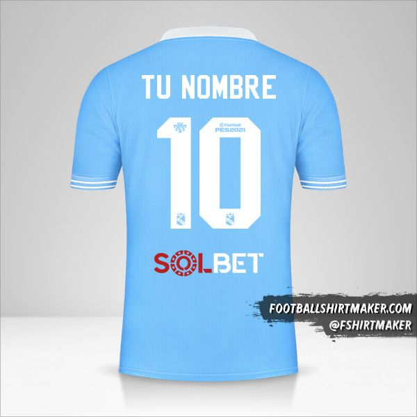 Jersey Sporting Cristal 2021 número 10 tu nombre