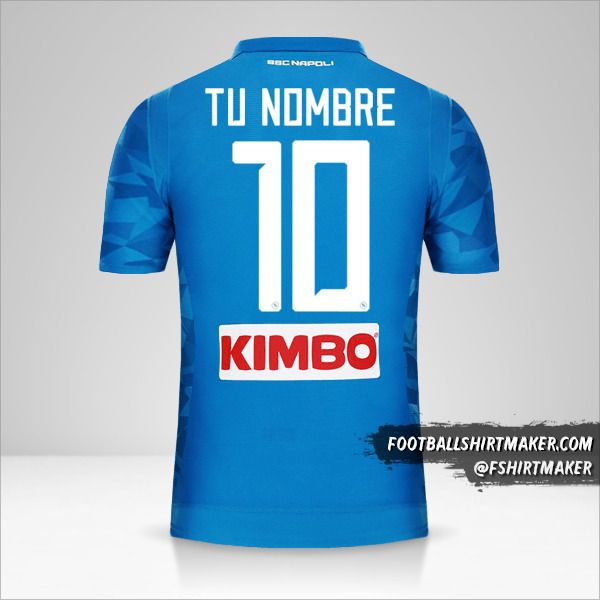 Jersey SSC Napoli 2018/19 número 10 tu nombre