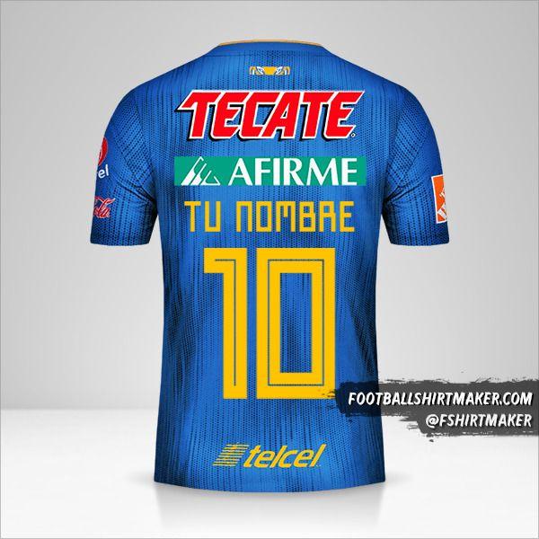 Jersey Tigres UANL 2019/20 II número 10 tu nombre