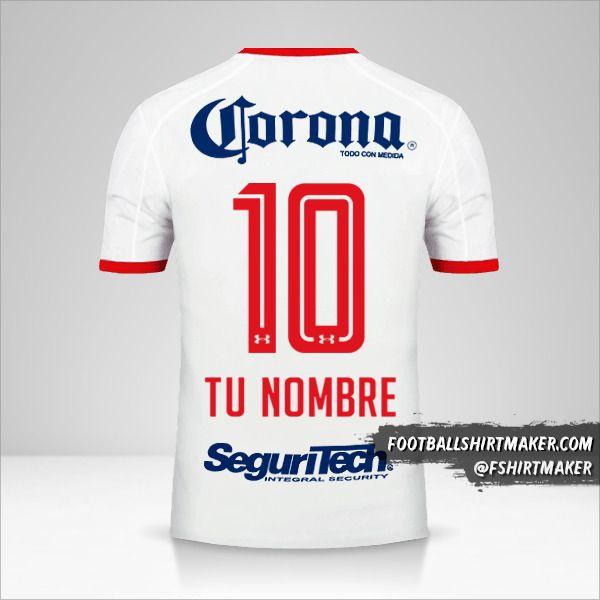 Jersey Toluca FC 2017/18 II número 10 tu nombre
