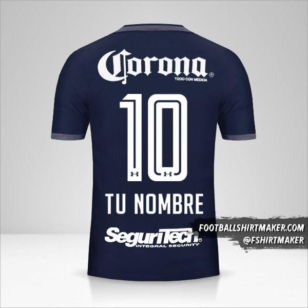 Jersey Toluca FC 2017/18 III número 10 tu nombre
