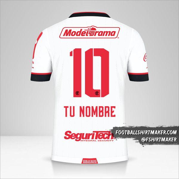 Jersey Toluca FC 2021 II número 10 tu nombre