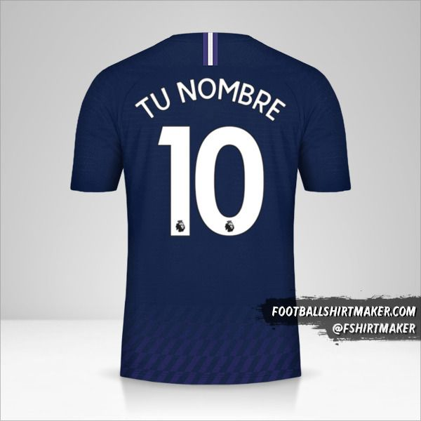 Jersey Tottenham Hotspur 2019/20 II número 10 tu nombre