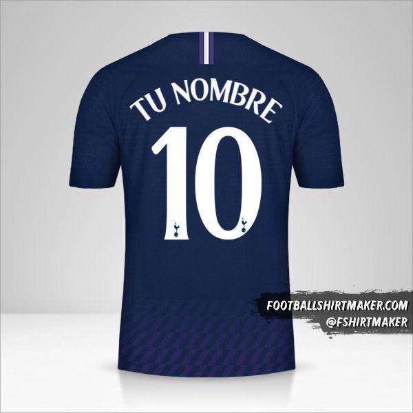 Jersey Tottenham Hotspur 2019/20 Cup II número 10 tu nombre