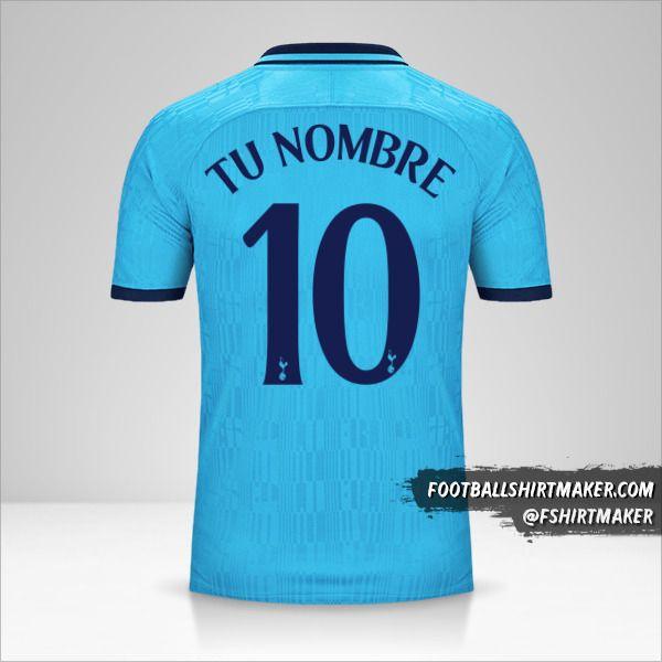 Jersey Tottenham Hotspur 2019/20 Cup III número 10 tu nombre