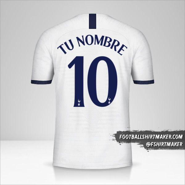 Jersey Tottenham Hotspur 2019/20 Cup número 10 tu nombre