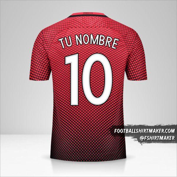 Jersey Turquia 2016 número 10 tu nombre
