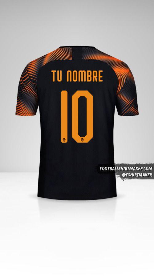 Jersey Valencia CF 2019/20 Cup II número 10 tu nombre