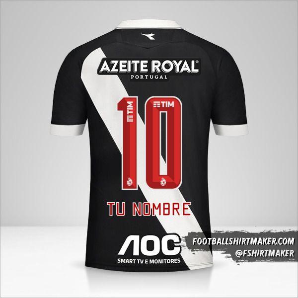 Jersey Vasco da Gama 2019/20 número 10 tu nombre