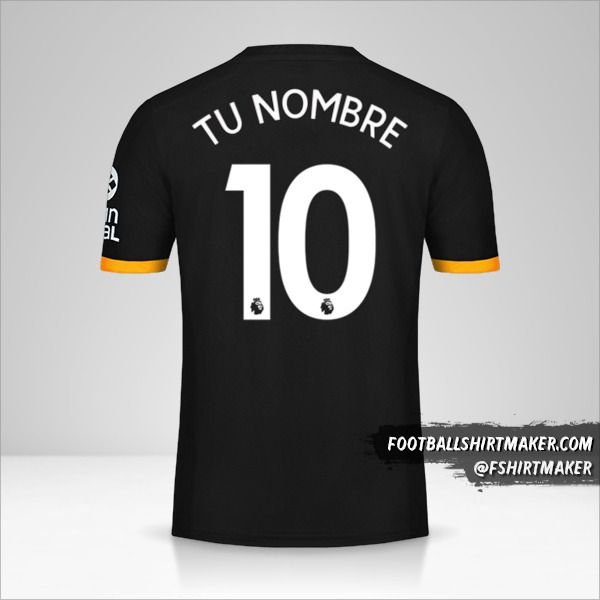 Jersey Wolverhampton Wanderers 2019/20 II número 10 tu nombre