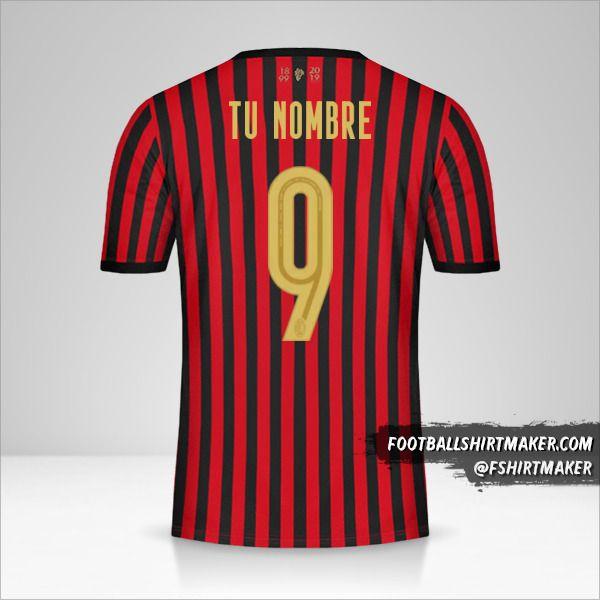 Camiseta AC Milan 120Th número 9 tu nombre